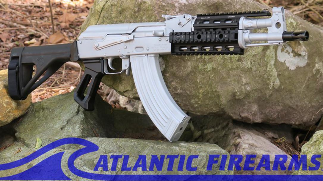 NEW: Bright Silver Atlantic Firearms Draco AK Pistol