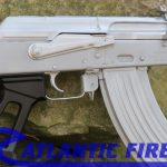 atlantic firearms draco ak pistol bright silver controls