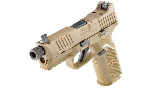 FN 509 Tactical pistol left angle