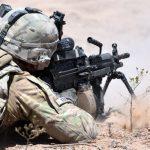 next generation squad automatic rifle m249 saw rear angle
