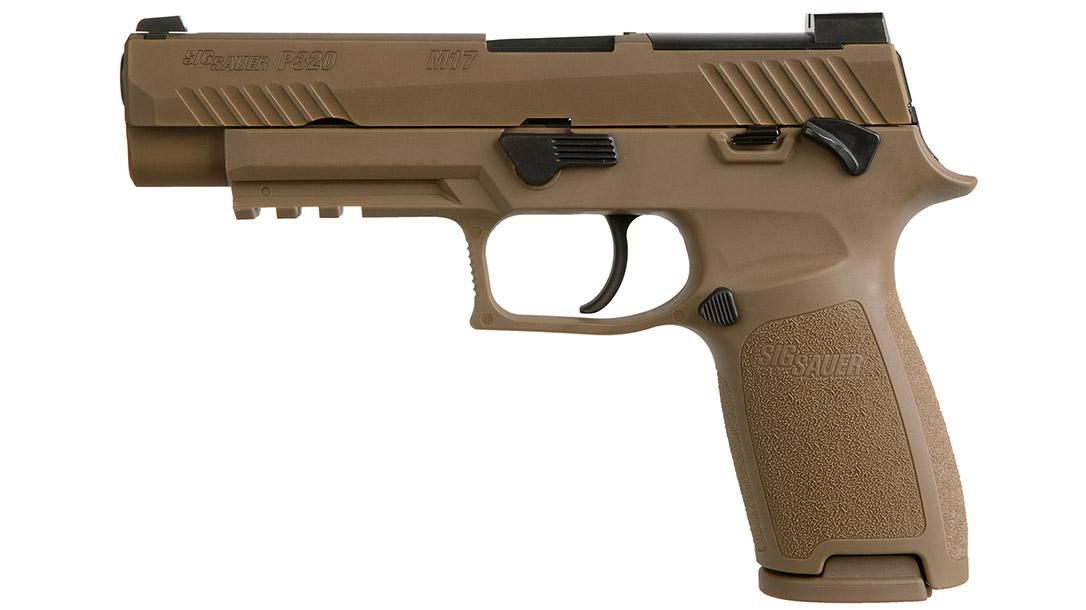Sig Sauer P320-M17 pistol left profile