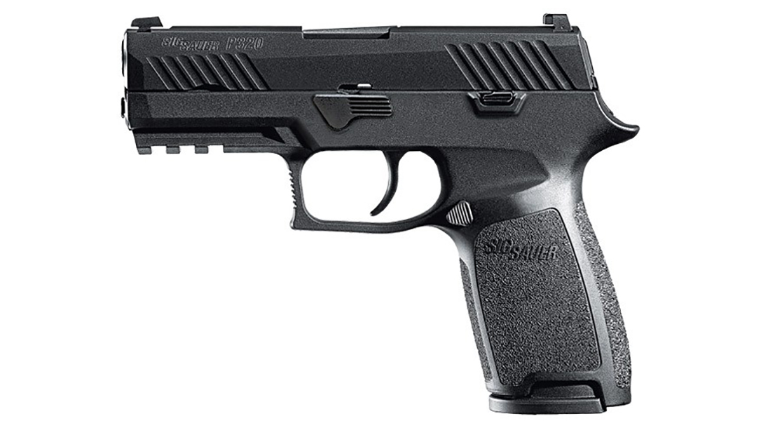 Sig Sauer P320 Nitron Carry pistol left profile