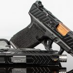 zev raven glock 19 slide white background
