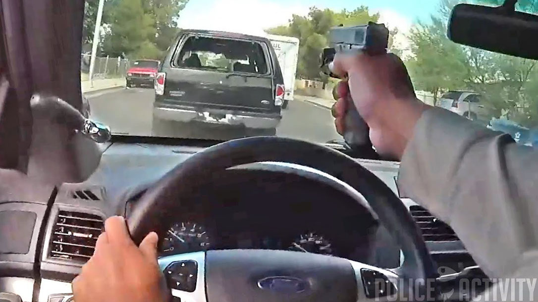 las vegas cop shooting windshield