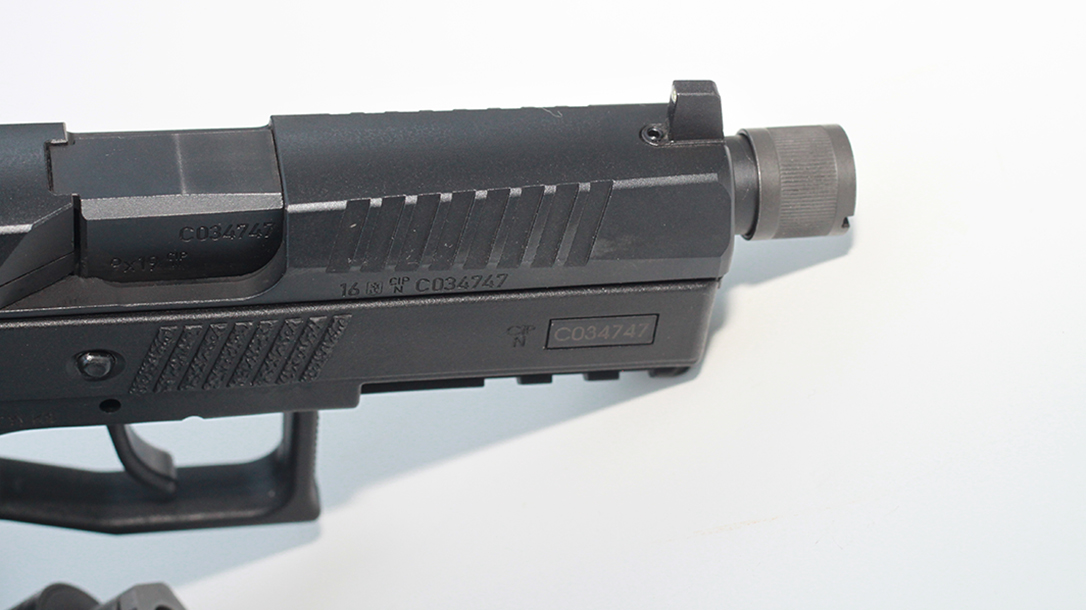 CZ P-07 Suppressor Ready pistol front