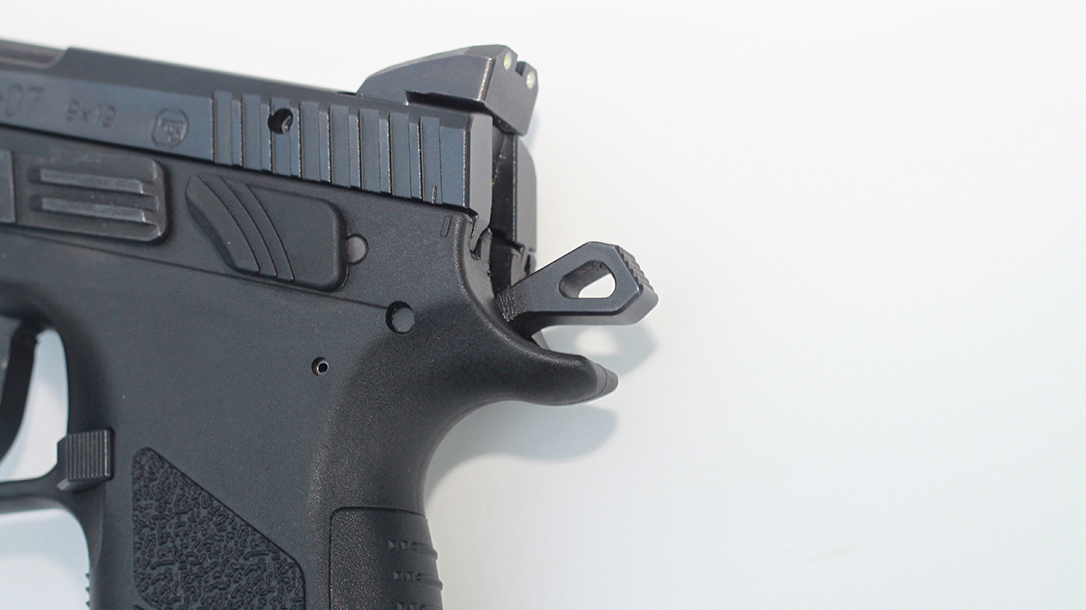CZ P-07 Suppressor Ready pistol beavertail