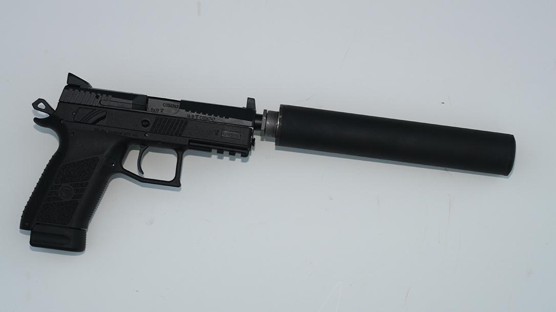 CZ P-07 Suppressor Ready pistol suppressor attached