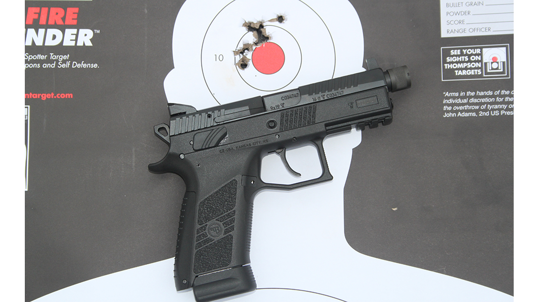 CZ P-07 Suppressor Ready pistol target