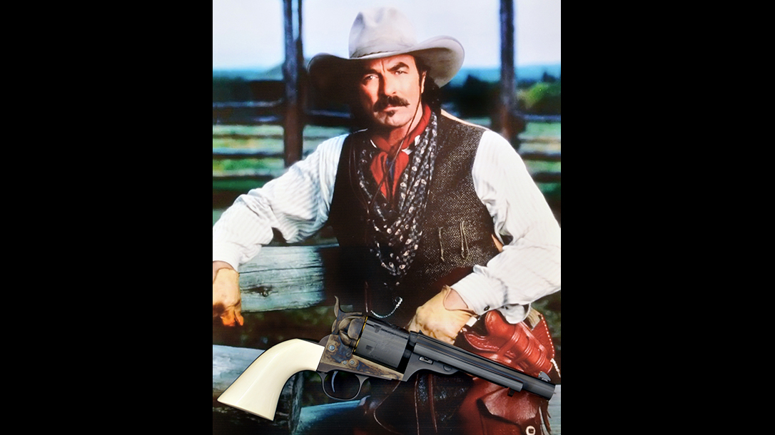 colt open top revolver tom selleck