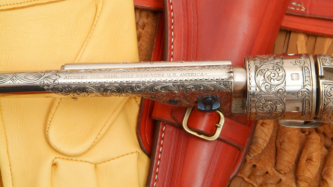 colt open top revolver barrel