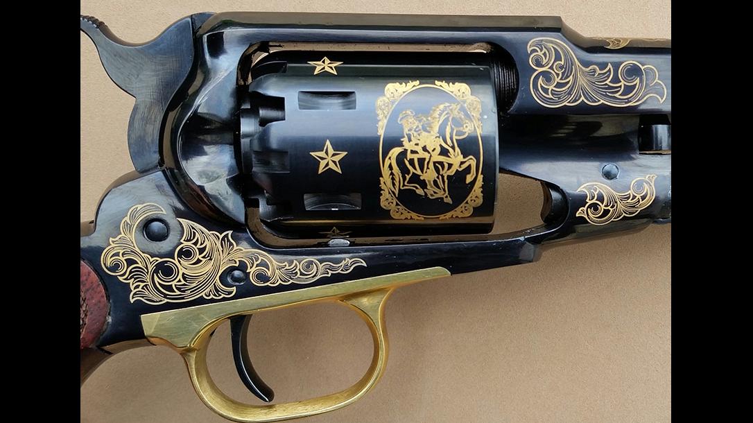 EMF 1858 Buffalo Bill Commemorative revolver cylinder