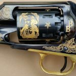 EMF 1858 Buffalo Bill Commemorative revolver engraving