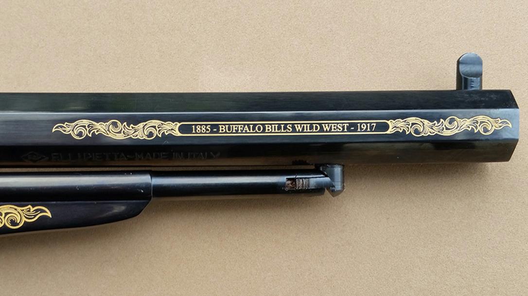 emf, 1858, buffalo bill commemorative, revolver, barrel
