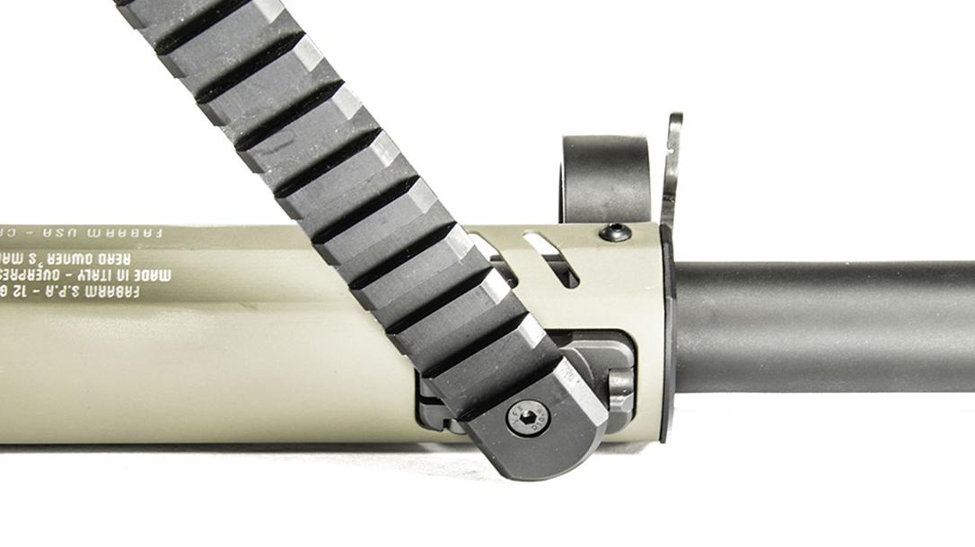 Fabarm STF 12 shotgun rail