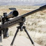 Magpul Pro 700 rifle chassis front angle