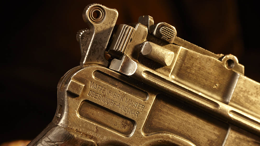 mauser, mauser c96, mauser c96 pistol, mauser c96 broomhandle, broomhandle pistol, mauser c96 pistol markings