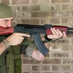 palmetto state armory psak-47 rifle aiming