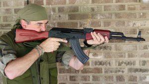 palmetto state armory psak-47 rifle aiming