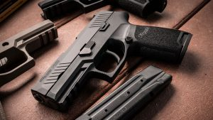 montgomery police department, montgomery police department sig p320, sig sauer p320, sig p320, sig p320 pistol left angle