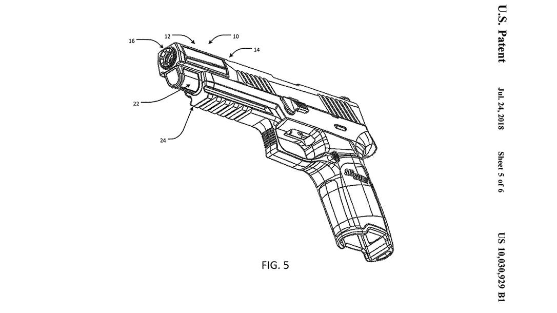 SIG Integral Eccentric Firearm Silencer bottom front angle