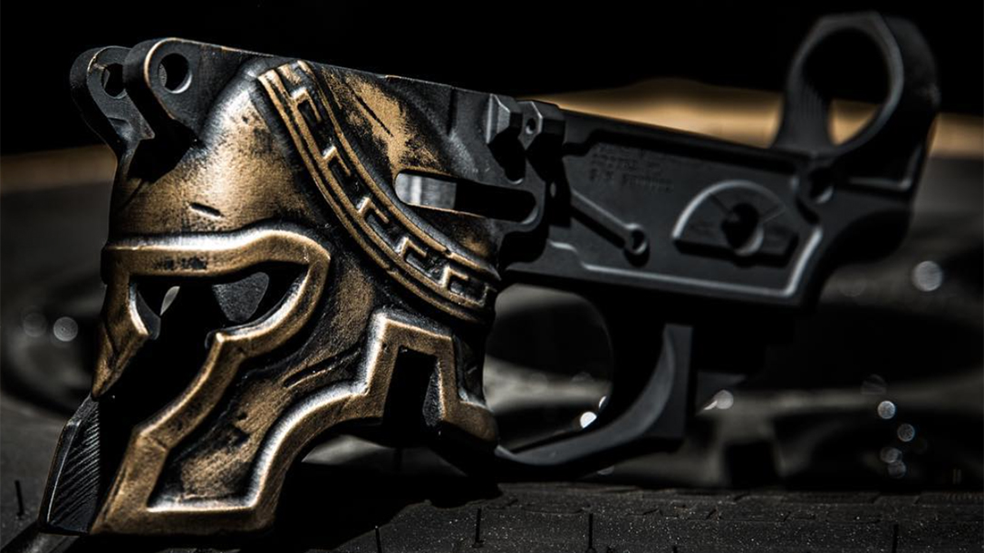 Spike's Tactical Spartan AR lower closeup