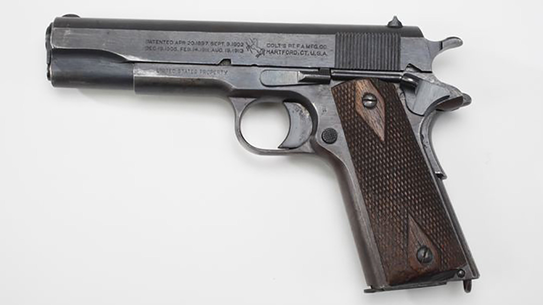 surplus 1911, 1911, 1911 pistol, 1911 pistol left profile
