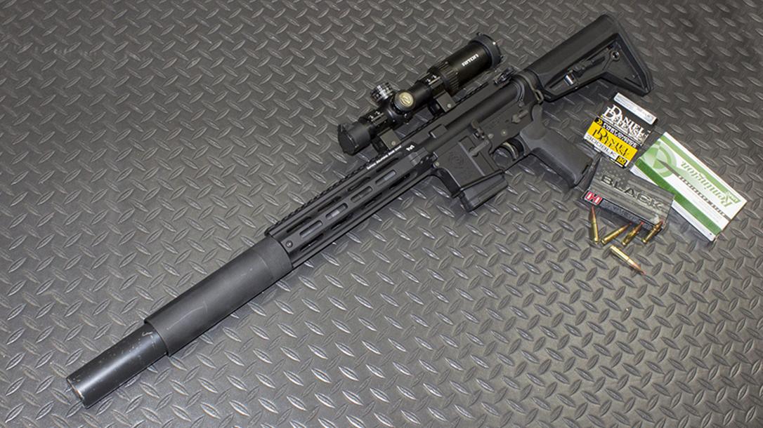 tactical solutions, tactical solutions TSAR-300 rifle, TSAR-300, TSAR-300 rifle, tactical solutions TSAR-300 rifle left angle