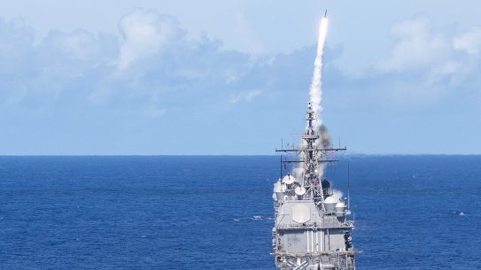 SM2 Missile Launch, USS Milius, Valient Shield 2018