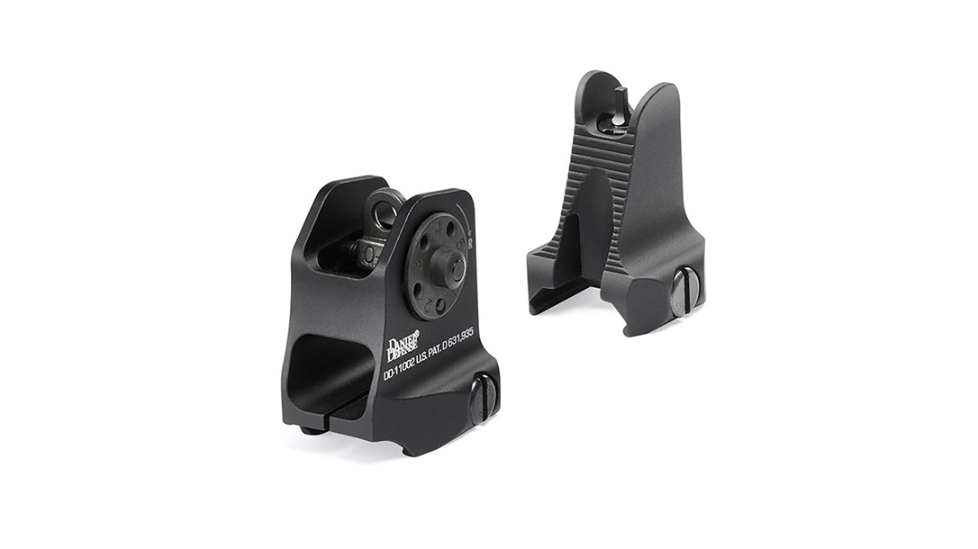 Backup Iron Sights, AR Rifle, Daniel Defense Fixed Front/Rear Sight Combo