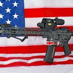 Custom AR-15 Build, Tommy Gun, American flag