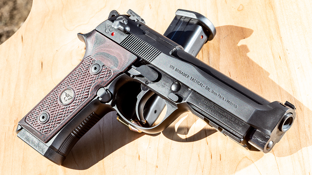 Wilson Combat 92G Vertec Brigadier Tactical pistol, Beretta 92G, handgun