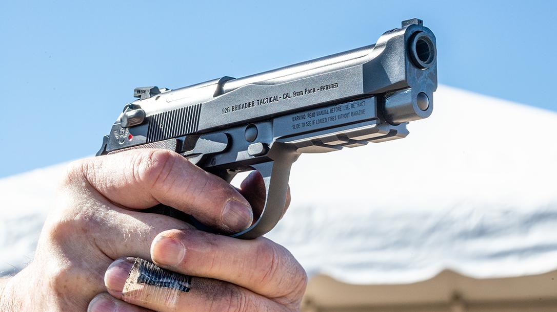 Wilson Combat 92G Vertec Brigadier Tactical pistol, Beretta 92G, rail