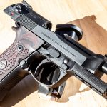 Wilson Combat 92G Vertec Brigadier Tactical pistol, Beretta 92G, slide