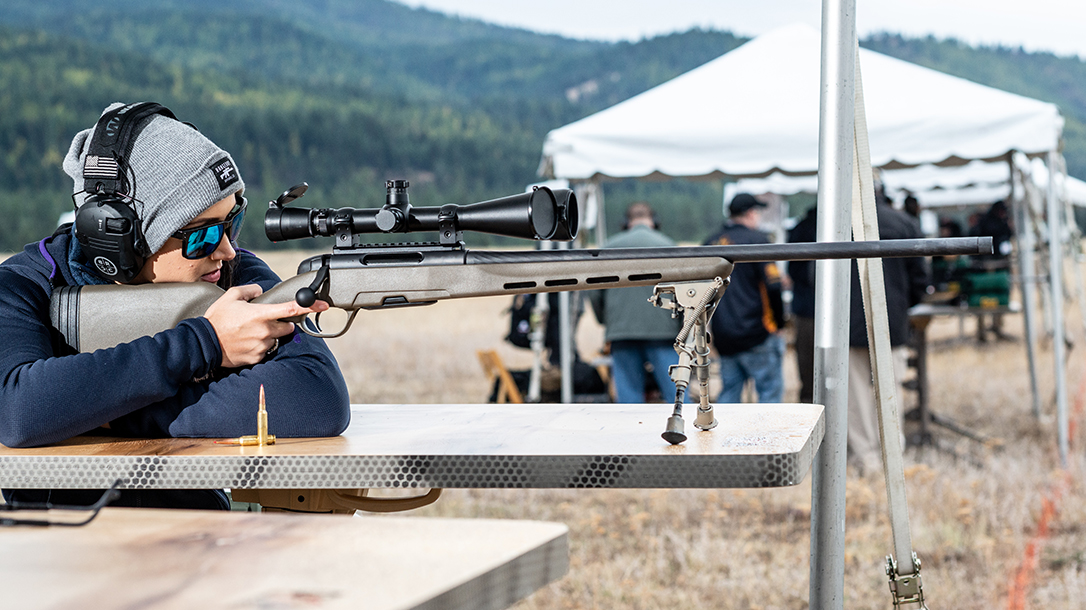 Steyr Pro THB 6.5 Creedmoor review, rifle, Lauren Young aiming