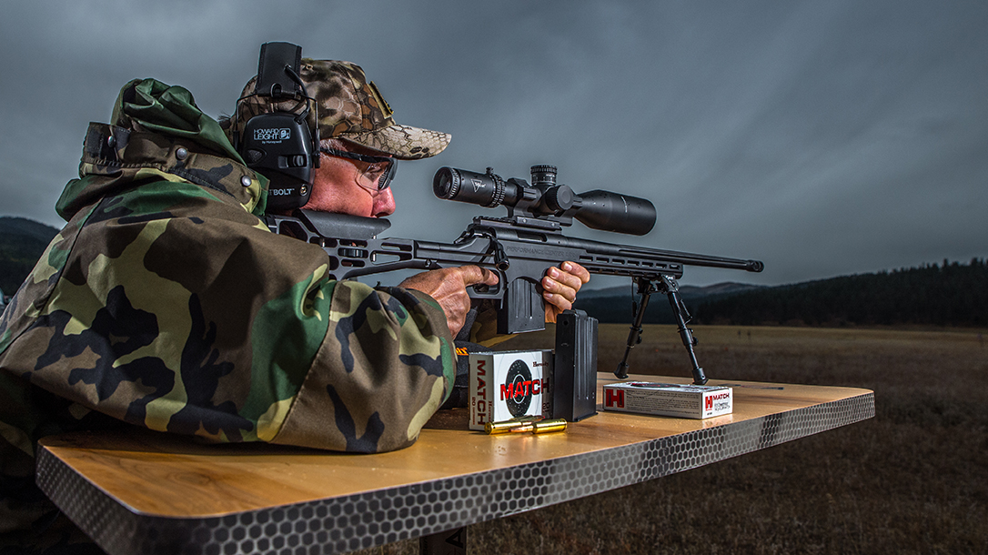Performance Center T/C LRR precision rifle, 6.5 creedmoor rifle, aiming