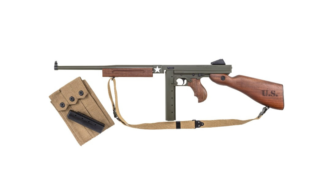 Auto-Ordnance Tanker Thompson, Thompson M1, World War 2, left