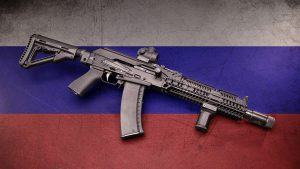 Meridian Defense Project Alpha AK-74 rifle review, Russian, flag