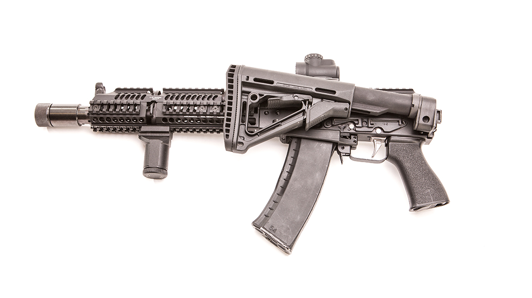 Meridian Defense Project Alpha AK-74 rifle review, Russian, stock folded
