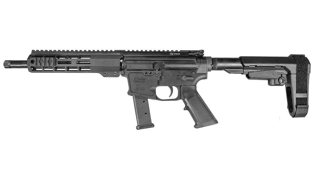 Windham Weaponry 9mm GMC Pistol, glock magazine, left