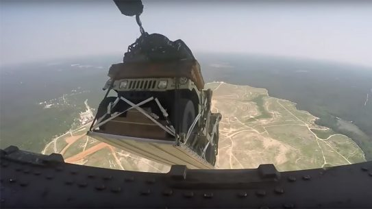 Army Humvee drop, North Carolina house, C-17 Globemaster III