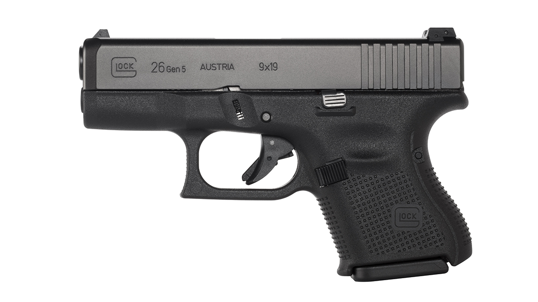 Glock 26 Gen5 review, G26 Gen5 review, left