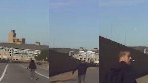 Grand Rapids Police, murder suspect, car camera