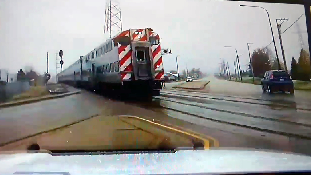 Officer Avoids Train Collision