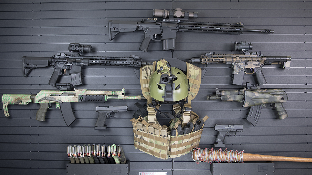Sensational Tactical Walls Keeps Your Weapons Handy Organized And Concealed Onthecornerstone Fun Painted Chair Ideas Images Onthecornerstoneorg