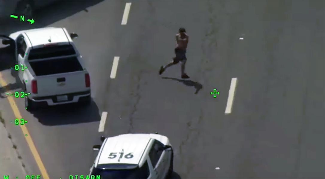 Armed carjacker