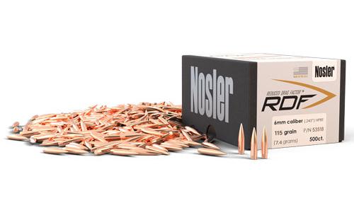 Nosler RDF 6mm Bullets