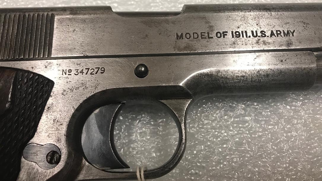 Marine Corps firearms, legendary guns, Colt M-1911