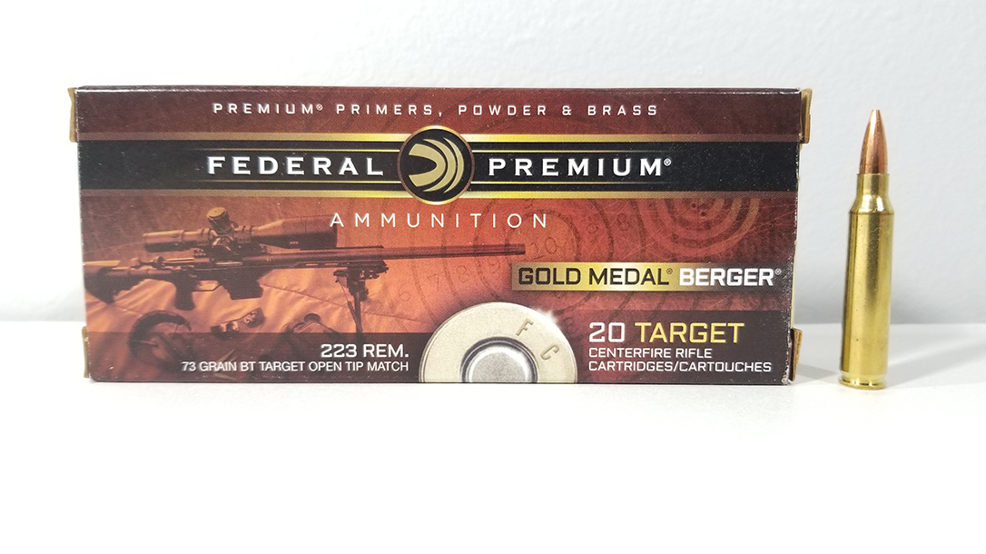 Using Federal 73-grain Federal Gold Medal Berger
