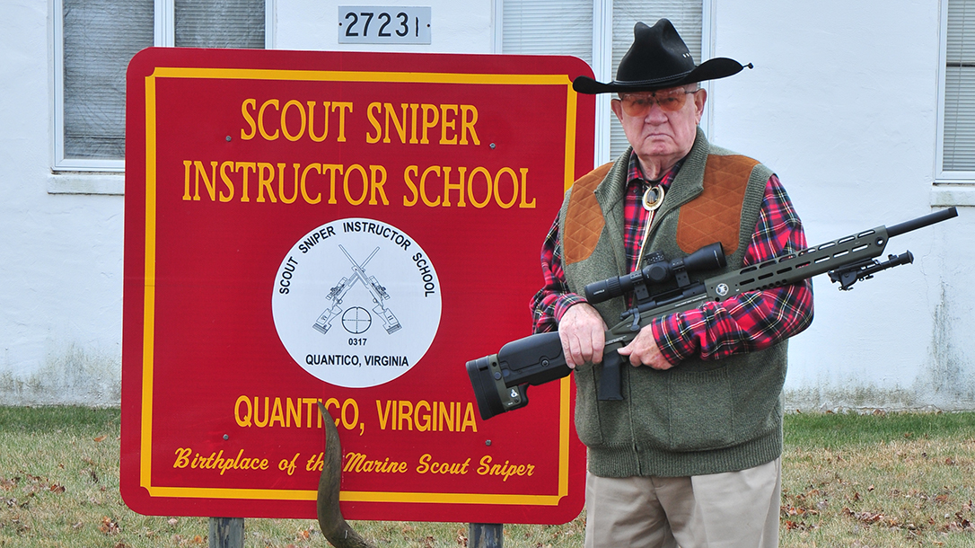 Major Land at Scout Sniper School