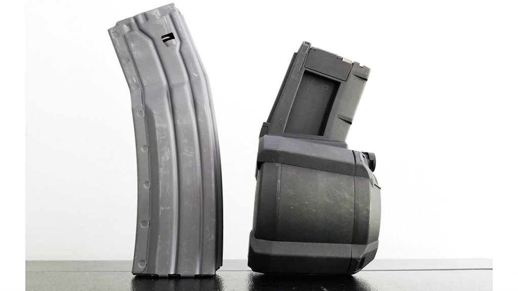 SureFire MAG5-60 and Magpul PMAG D-60 high-capacity magazines
